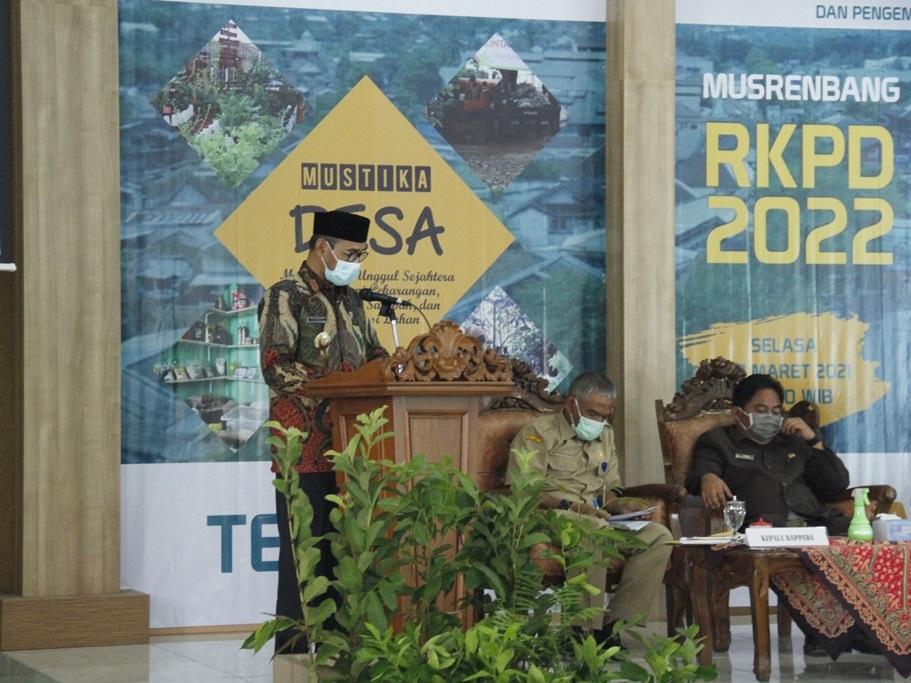 Bupati Berikan Sambutan pada Musrenbang RKPD 2022